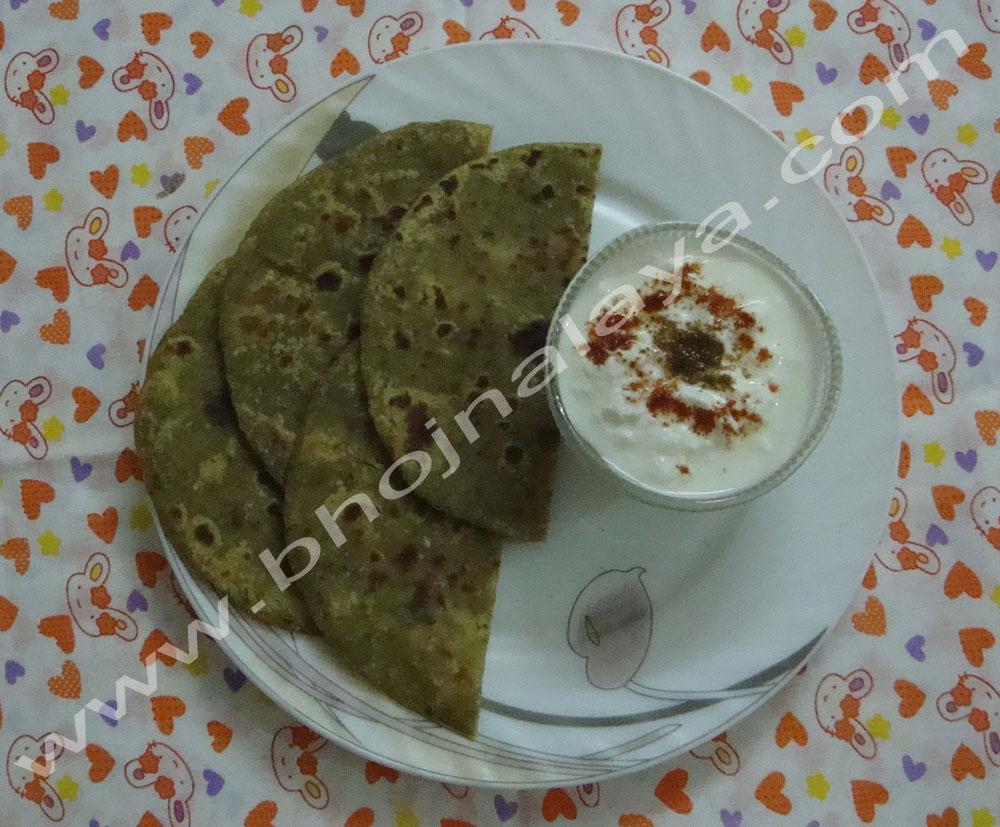 Palak-Paneer-Parantha