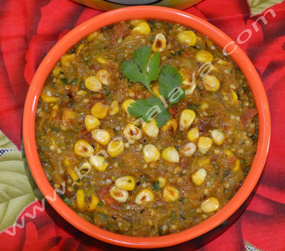 Baigan-Corn-Bharta